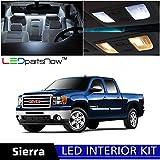 LEDpartsNow GMC Sierra 2007-2014 Xenon White Premium LED Interior Lights Package Kit (12 Pieces) + Install Tool