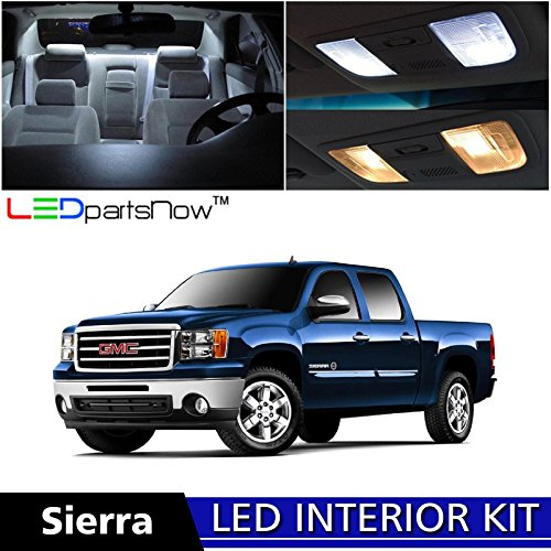 ledpartsnow-gmc-sierra-2007-2014-xenon-white-premium-led-interior-lights-package-kit-12-pieces-tool-