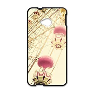 Ferris Wheel Fashion Personalized Clear Cell Phone Case For HTC M7