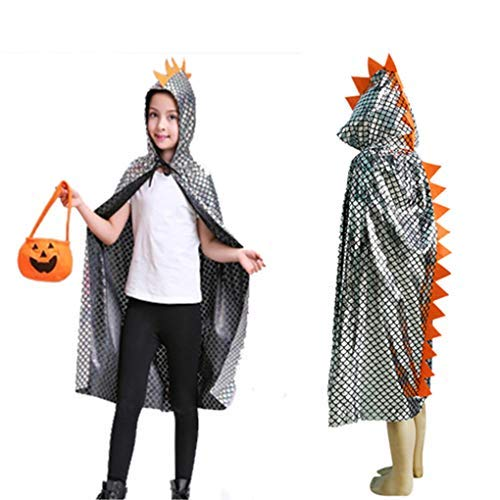 Kids Dinosaur Cape Cloak HoodiedBoys Girls Cosplay Halloween Christmas Costume Cartoon Animal BlinkingFancy Party Cosplay RobeDress-Up Party Props Children School Party Costume Clothes OutfitGift -