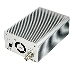 TIVDIO T6-A 1W / 6W FM Transmitter Long Range Mini Radio Stereo Broadcast Station PLL LCD Display AUX In Line with Antenna for Home Factory Church School(Silver)