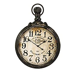 CC Home Furnishings 39 Old Fashioned Antique Oversized Pocket Watch Wall Clock