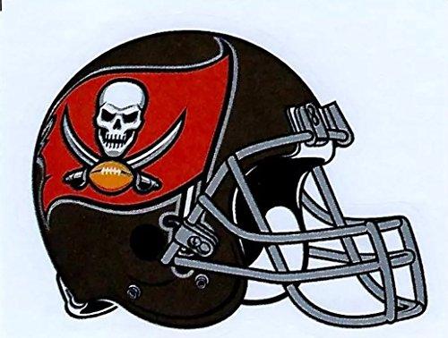4 Tampa Bay Buccaneers Die Cut Stickers NFL Football Helmet Logo Sticker Bucs Team Set ()