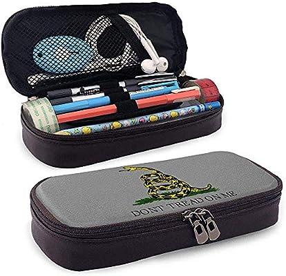 Oro No pise en mí Estuche de lápices de cuero de serpiente Bolsa de gran capacidad para porta lápices para escuela y oficina: Amazon.es: Oficina y papelería