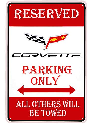 LASMINE Reserved Parking Only All Others Will Be Towed Outdoor Garden Metal Vintage Garage Wall Tin Signs Retro Decor Sign Indoor Warning Road Country 8X12Inch