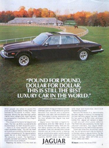 Jaguar Series III Sedan Best Luxury Car ad 1988