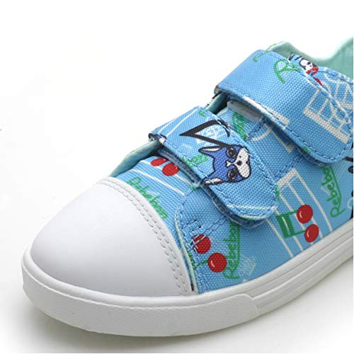Walking Casual Unisex Fashion Sneakers for Comfort Rebebon Adjustable Strap Shoes for Toddler /& Youth Girls Boys Kids 13 M US Kids, Blue Music