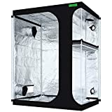 VIPARSPECTRA 2-in-1 60'x48'x80' Mylar Hydroponic Grow Tent with Observation Window and Floor Tray for Indoor Plant Growing 5'x4'x6'