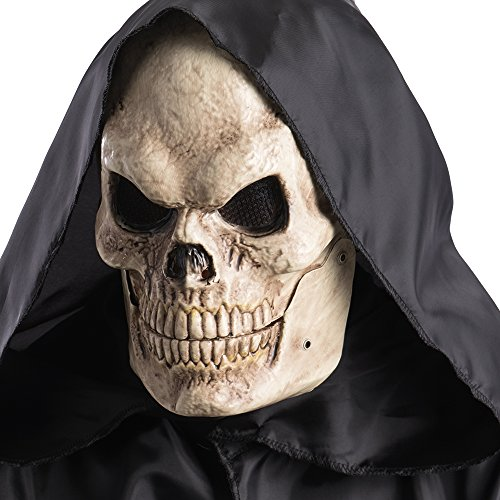 Carnival Toys 781 Mask Skull with Jaw Mobile, Beige, One Size