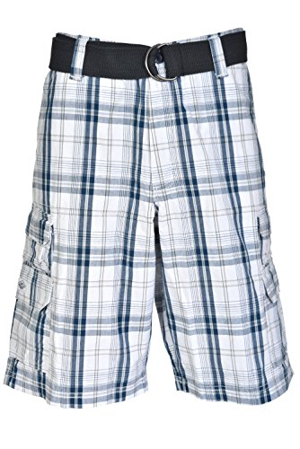 (Lee Men's SA Dungarees Belted Wyoming Cargo Short (36, Blue Connor Plaid))