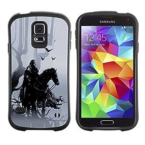 Be-Star Impreso Colorido Diseño Antichoque Caso Del iFace Primera Clase Tpu Carcasa Funda Case Cubierta Par Samsung Galaxy S5 SM-G900 ( Forrest Warrior )