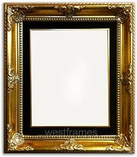 west frames estelle antique gold leaf wood picture frame with black velveteen liner 18 x