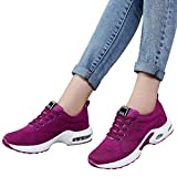 Farjing Breathable Shoe Flying Woven Sports Shoes Casual Running Shoes Student Mesh Shoe(US:7.5,Hot Pink)