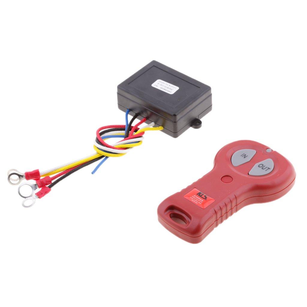 Homyl 12V/24V Winch Remote Receiver Switch Handset for Car ATV SUV KLS-213X