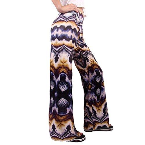 Vintage Pantaloni Colpo Taille Eleganti Nahen Autunno Libero Costume 6 Primaverile Tempo Pantaloni Donna Pantalone Larghi Moda Stampato Femminile Pantaloni Colour 0qp8gYP