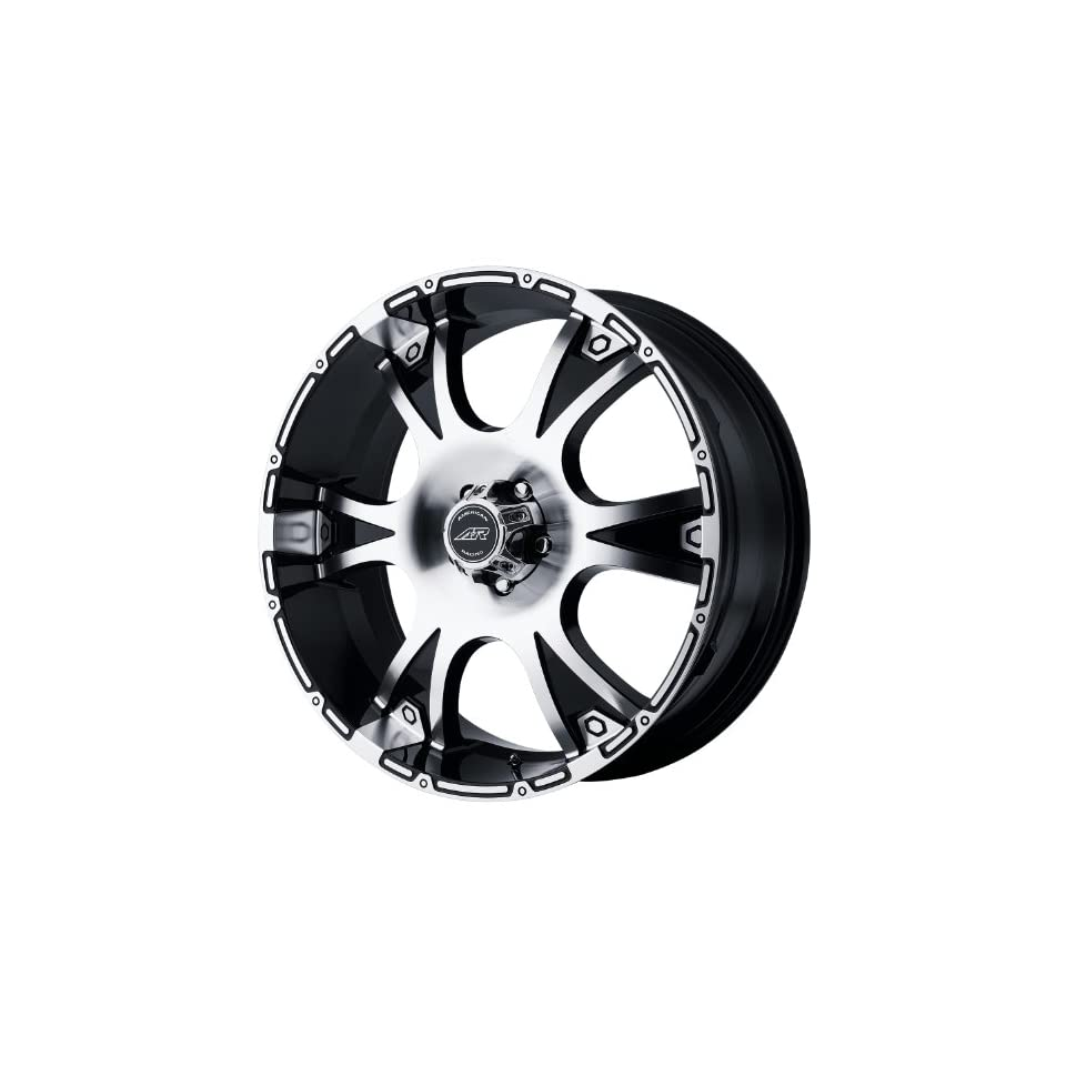 American Racing Dagger 16x8 Machined Black Wheel / Rim 8x6.5 with a 10mm Offset and a 125.50 Hub Bore. Partnumber AR88968080310 Automotive