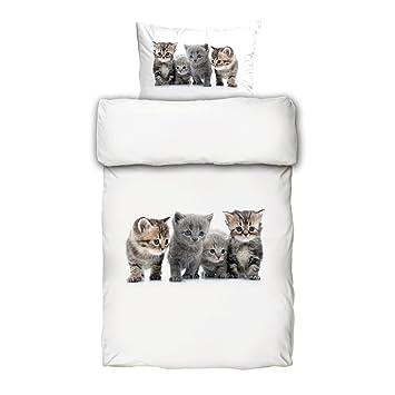 Schwanberg Bettwäsche Muriki Animal Katzen Katzenbaby Renforcé
