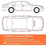Car edge Protector Strip 5M car edge trim rubber seal protector U-shaped car protection door edge protector, Fit for SUV…