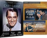 Movie Legend Cary Grant Collection North By Northwest Hitchcock TCM / Strangers on A Train + Once Upon A Time - Penny Serenade - His Girl Friday - The Amazing Adventure Film DVD Classic