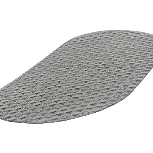- Vive Oval Bathtub Mat - Nonslip Shower Floor Pad - Non-Slip and Non-Skid for Bath Tub with Strong Rubber Suction Cup Grip - for Baby, Elderly, Kids, Bathroom (Gray)