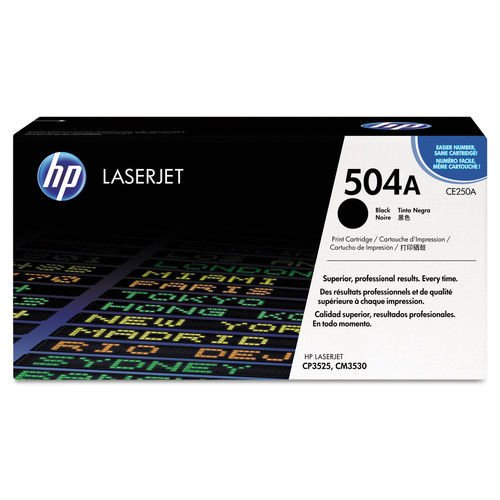 HP HEWCE250AG 504A  CE250AG  Black Original Laserjet Toner Cartridge for US Government Black Laser, 5000 Page Inks, Toners   Cartridges