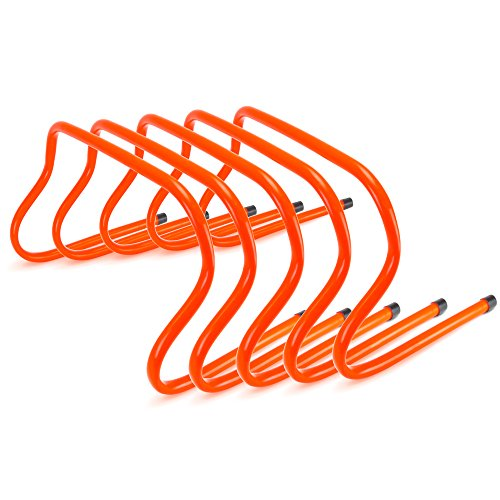 High Step Agility Trainer (9-inch Speed Agility Training Hurdles, Pack of 5)