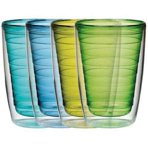 Insulated Plastic Glass (Cool Set Insulated Tumblers Set of 4, 16-Ounce)