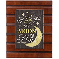 I Love You to the Moon and Back Wood Finish 8 x 10 Framed Wall Art Plaque