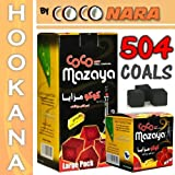 Authentic Coco Nara Mazaya 504 Hookah Coconut Coals + $0 SHiP