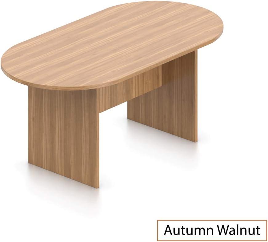 GOF 6FT, 8FT, 10FT Conference Table Chair (G10900B) Set, Cherry, Espresso, Mahogany, Walnut, Artisan Grey (6FT, Autumn Walnut)