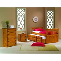 Twin Mission Captains Honey Trundle Bed