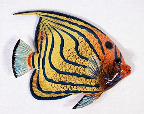 Amazon.com: Handpainted L-A Tropical Fish Replica Wall Mount Decor ...