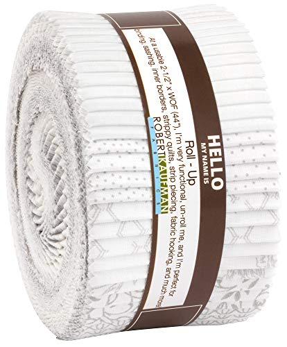 Whisper Prints Roll Up 40 2.5-inch Strips Jelly Roll Robert Kaufman Fabrics RU-851-40