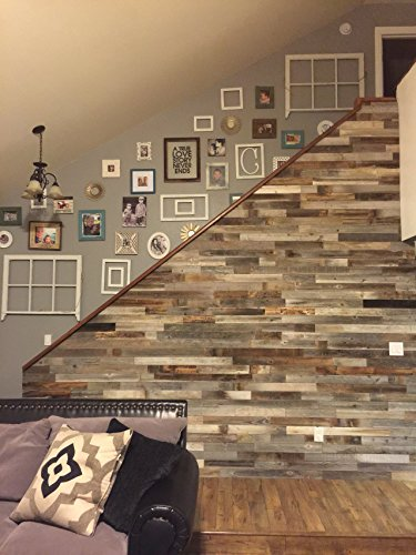 Reclaimed Wood Wall Paneling Pack of 10 Square Feet for Barnwood Accent Wall -- FREE SHIPPING