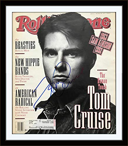 Framed Tom Cruise Authentic Autograph Rolling Stone with Certificate of Authenticity