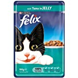 Felix Wet Cat Food Tuna in Jelly Pouch, 100g