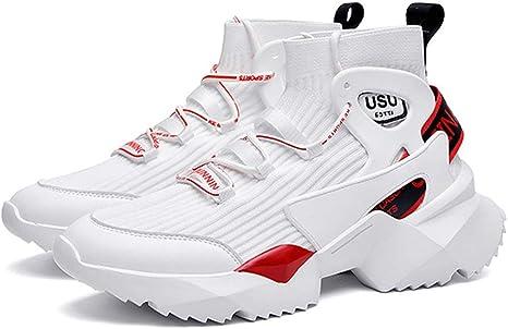CHENTAOCS Zapatos de caña Alta, Zapatos de Invierno Salvaje, Zapatos Deportivos para Hombre, cómodos y prácticos: Amazon.es: Deportes y aire libre