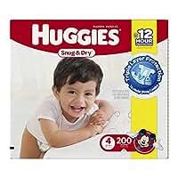 Huggies Snug 'n Dry Diapers, Step 4 (22-37 lbs), 200 ct