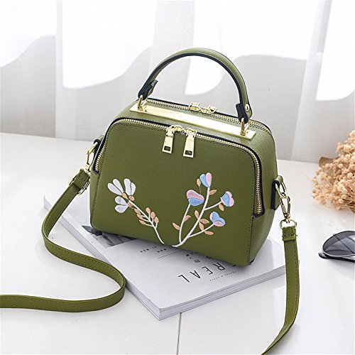 handbag shoulder Satchel green Holiday Bag MSZYZ simple gifts embroidery bag Fashion pcfw0g