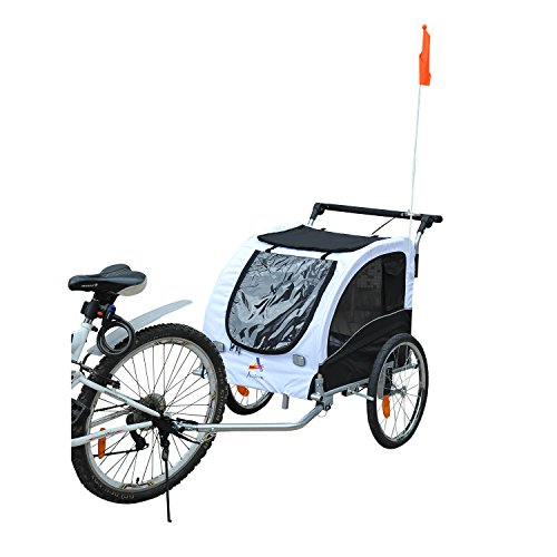 Aosom Elite II Pet Dog Bike Bicycle Trailer Stroller Jogger w/ Suspension - ()