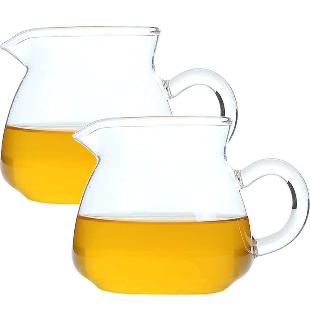 Jarrita de leche 9 oz 260 ml Lechera baja de vidrio creamer con ...