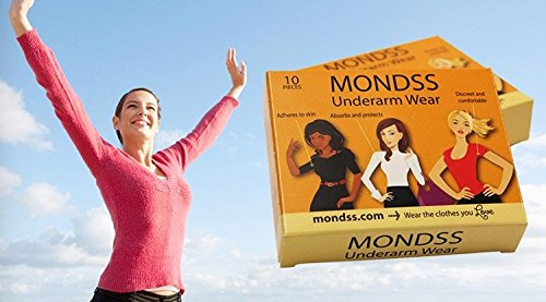 Sweat Absorbing Pads / Shields (Adhere/Stick to Skin) MONDSS 6 PACK of Underarm Wear – for Men/Women. FAST FREE same day shipping WORLDWIDE.**AS SEEN ON TV!** by Mondss (Image #6)