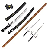 ninja costume with weapons - Liberty Imports Ninja Warrior Weapons Playset with 2 Kantana Swords, 2 Sais, Bow Staff, Kunai and Ninja Stars