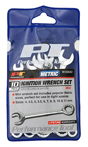 Performance Tool W30682 10Pc MET Ignition Wrench Set 10Pc MET Ignition Wrench Set