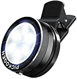 Universal Clip-On Mini LED Light Portable Pocket Spotlight for iPhone, iPad, iPod, Samsung, LG, Motorola, HTC, Nokia, Cell Phones and Tablets Camera Video Light (Black)