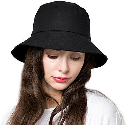 Ladies Narrow Brim Summer Straw Bucket Hat S334
