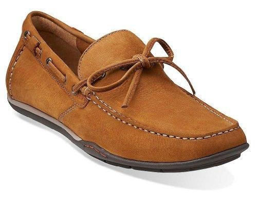 (Clarks Men's Rango Reed Slip-On Loafer,Tan,8 M US)