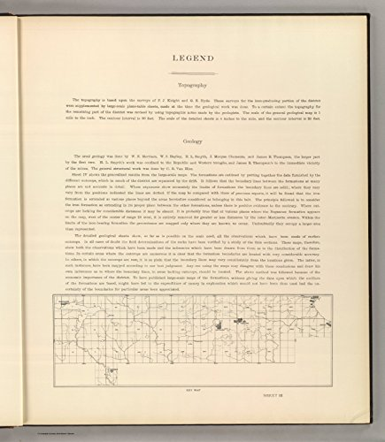 Map Poster - Legend: Atlas toThe Marquette Iron-Bearing District Of Michigan