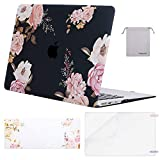 MOSISO MacBook Air 13 inch Case(A1369 A1466, Older Version 2010-2017 Release),Plastic Pattern Hard Case&Keyboard Cover&Screen Protector&Storage Bag Compatible with MacBook Air 13, Pink Peony