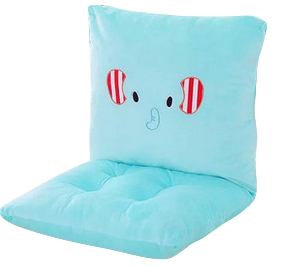 ChezMax Joint Detachable Rocking Chair Seat Back Cushion Set with Ties For Children Kid Boy Girl Rocker Cyan Eelephant